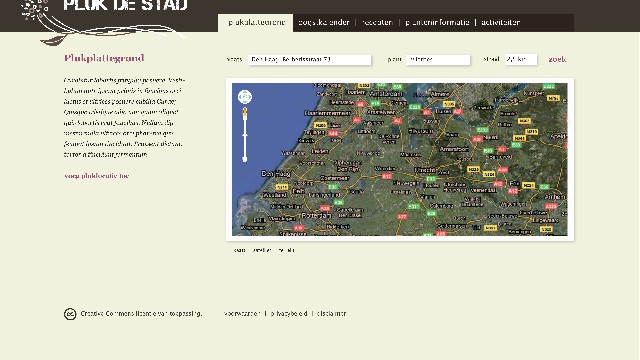 Website 'Pluk de stad'